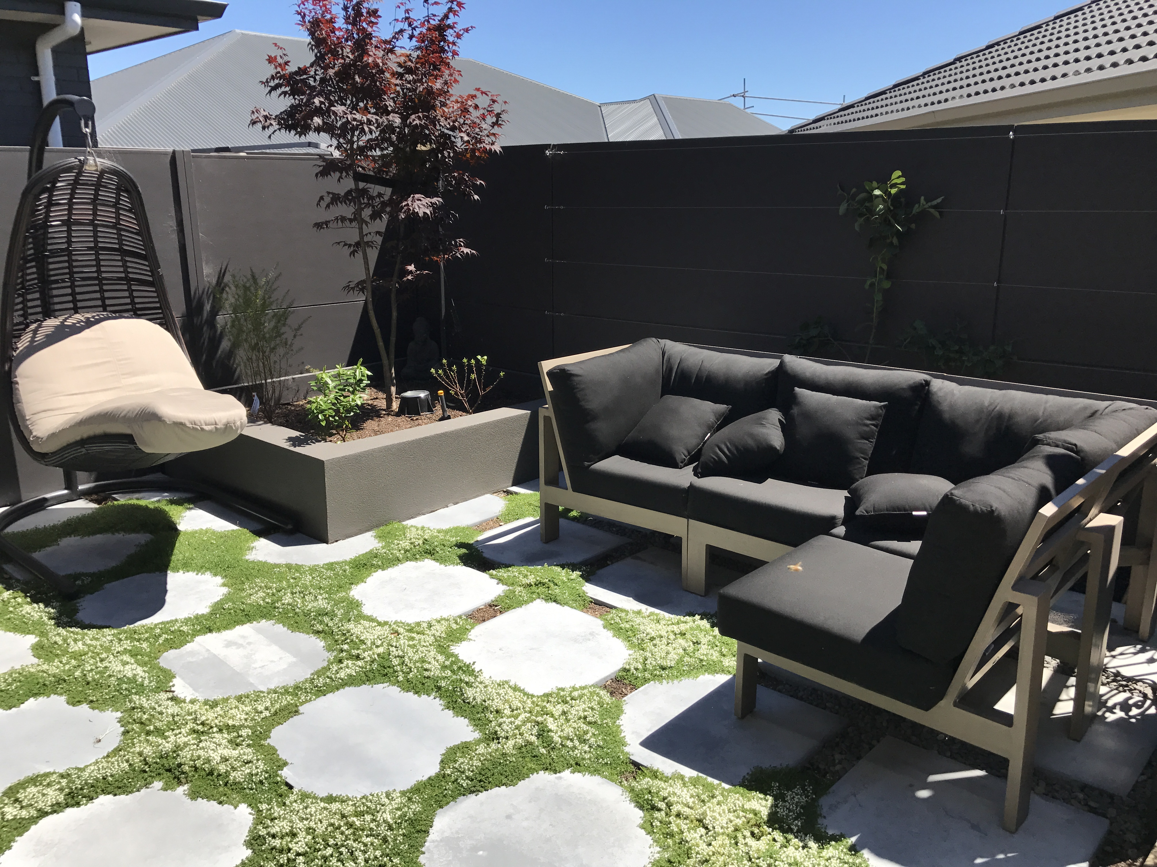 Herb garden/ chill out area